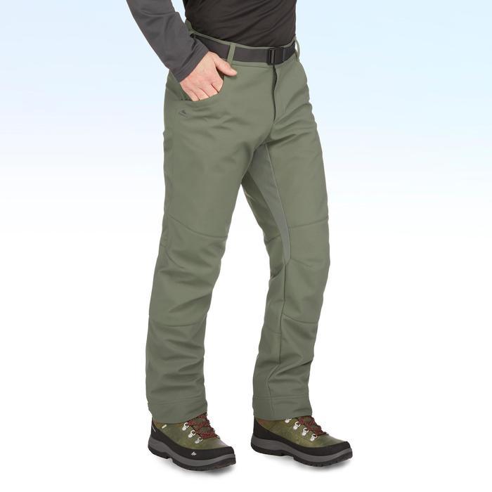 SH500 Men's x-warm kaki snow hiking trousers.