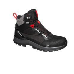 男款保暖雪地健行中筒雪靴SH520 ─黑色