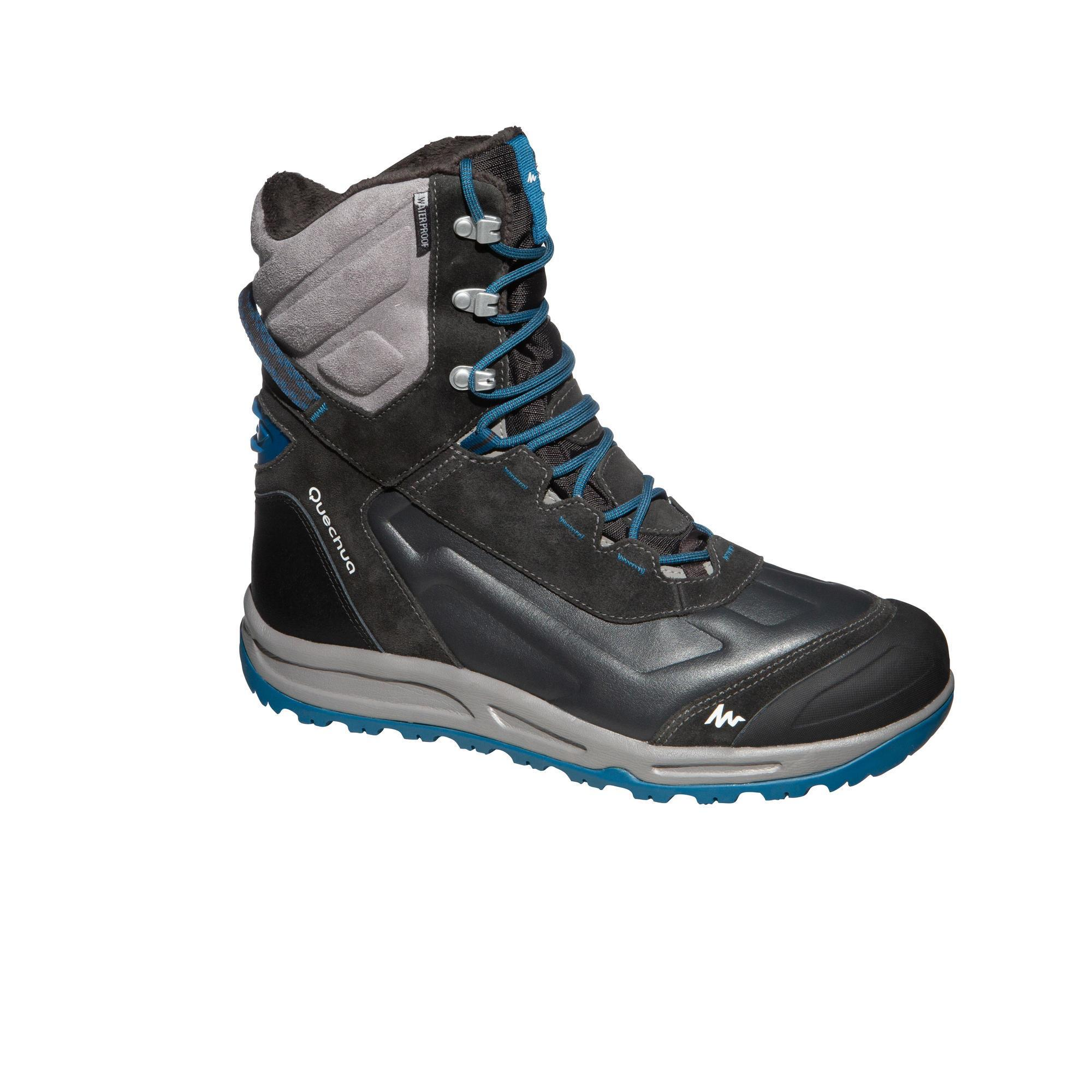 Winterstiefel Winterwandern SH920 X-Warm wasserdicht Herren blau | Schuhe > Boots > Winterstiefel | Grau | Quechua