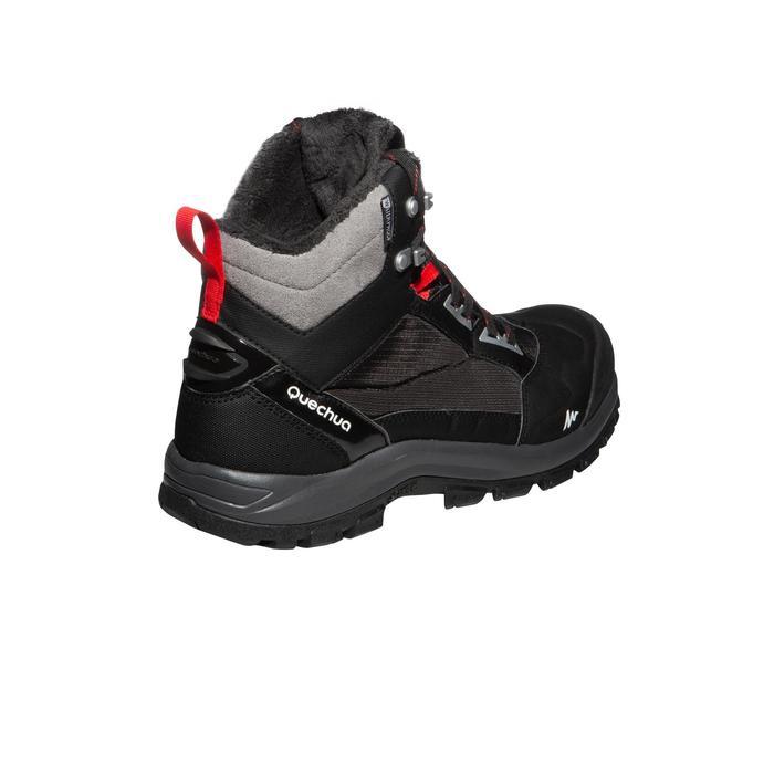 Heren wandelschoenen voor de sneeuw SH520 X-warm mid zwart