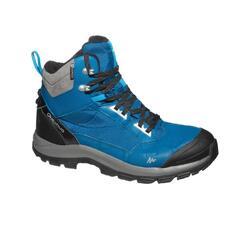 男款超保暖雪地健行中筒靴SH520-藍色。