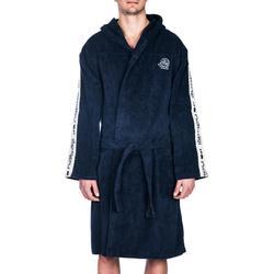 Bademantel 500 Wasserball dicke Baumwolle mit Gürtel Taschen Kapuze Herren