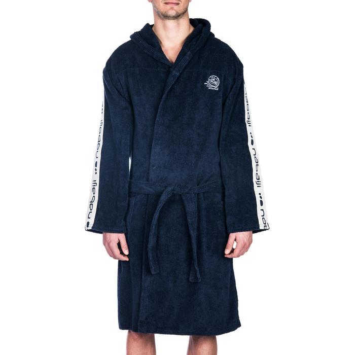 Katoenen heren badjas voor waterpolo Nabaiji WP 500 donkerblauw