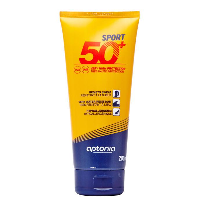 Zonnecrème voor sporters factor 50+ 200 ml - waterbestendig