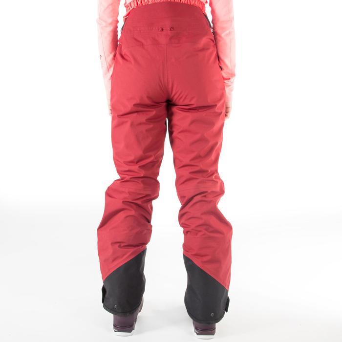 女款自由式滑雪長褲FR900 - 栗紅色