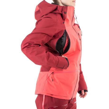 Veste ski femme bordeaux