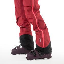 Pantalón de esquí freeride mujer SFR 900 burdeos