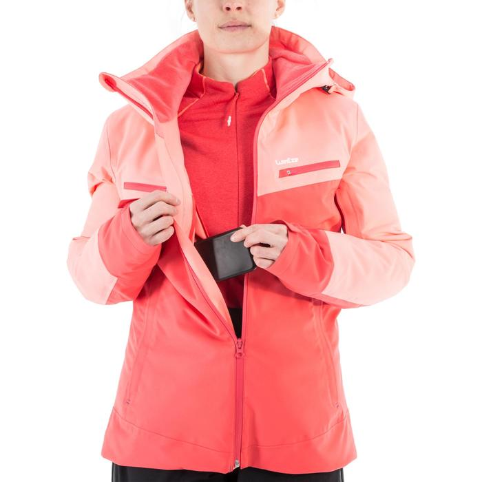 Chaqueta de esquí All Mountain mujer AM900 rojo coral