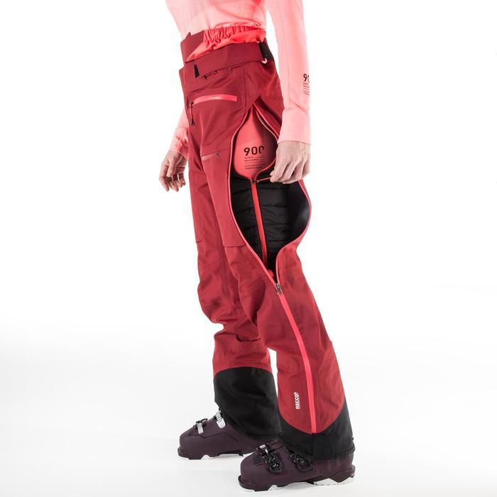 Women's Freeride Ski Trousers FR900 - Maroon