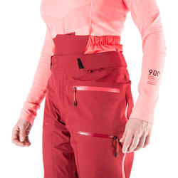 Women's Freeride Ski Pants FR900 - Maroon