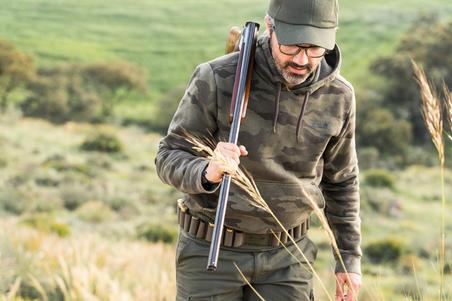 Hunting Hooded Sweatshirt 500 - Halftone Camouflage