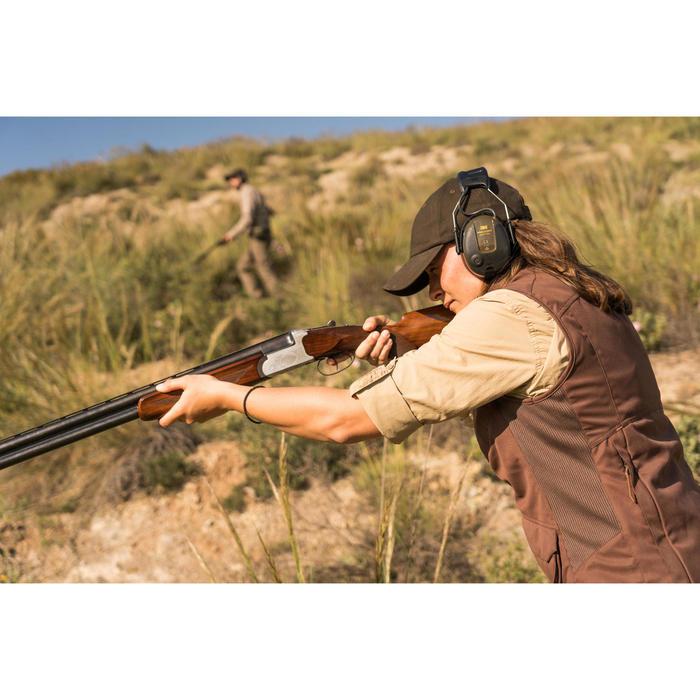 Jagdweste Damen 500 wendbar braun, camouflage / orange