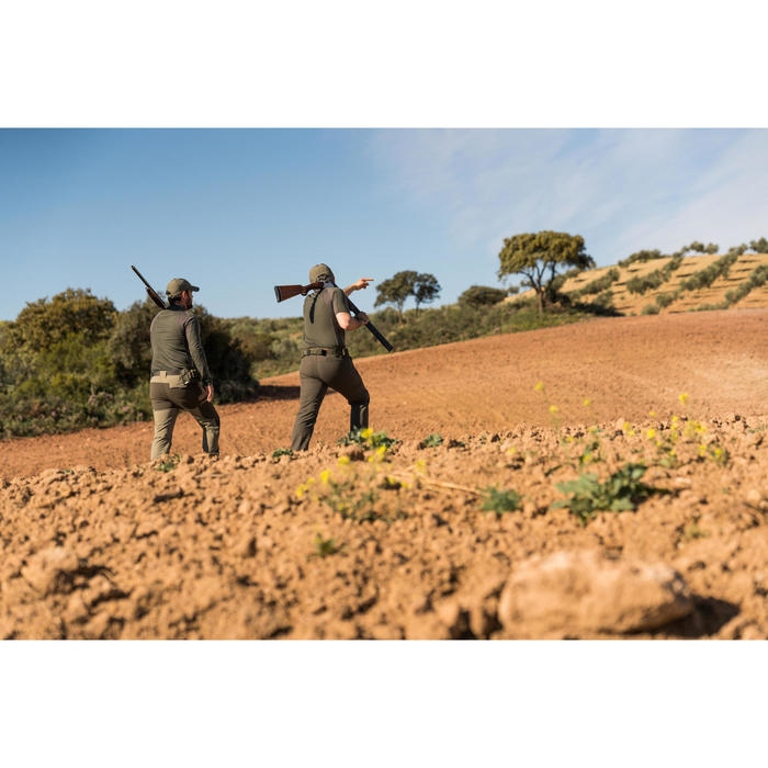 Jagd-Langarmshirt Merinowolle 900 grün