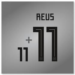 Flock Reus Nr.11 Home Erwachsene für weißes Deutschlandtrikot WM 2018