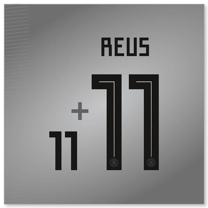 Flock Reus Nr.11 Home Kinder für weißes Deutschlandtrikot WM 2018