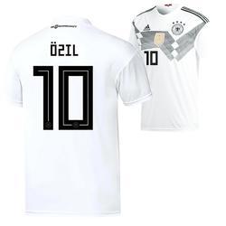 Flock Özil Nr.10 Home Erwachsene für weißes Deutschlandtrikot WM 2018