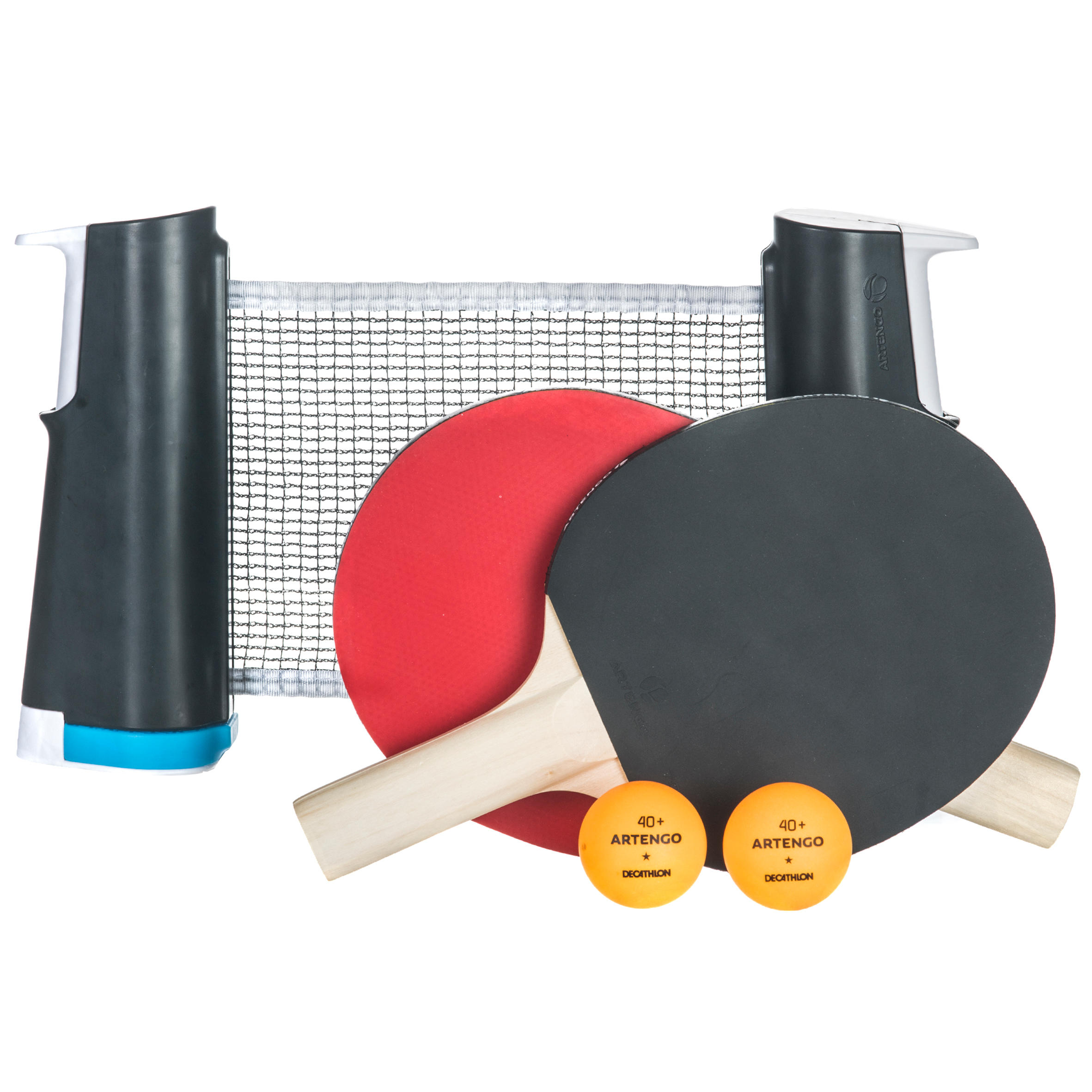 Standard Rollnet Set of 2 Free Table Tennis Paddle and 3 Balls