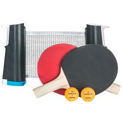 Tafeltennisset Free Rollnet standaard + 2 bats + 3 ballen