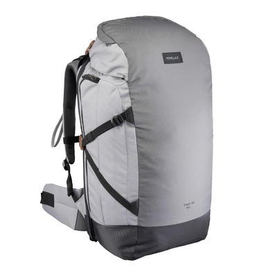 Sac à dos Trekking TRAVEL 100 50 litres cadenassable gris