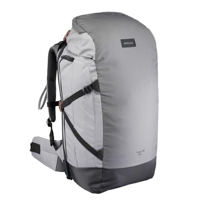 Sac à dos Trekking  TRAVEL 100  50 litres cadenassable - 1484129