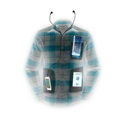 Camisa trekking TRAVEL100 warm hombre burdeos