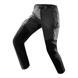 女款登山健行長褲TREK500-深灰色
