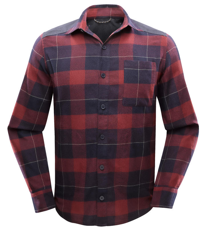 Men's Backpacking Shirt Travel100 - Burgundy