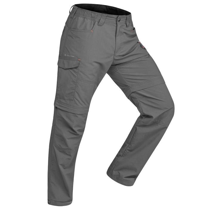 Pantalon modulable trekking montagne TREK 500 homme gris foncé - 1484188