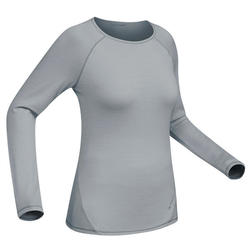 Techwool 190 Women's Long-Sleeved Mountain Trekking Shirt - Grey