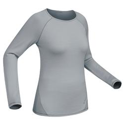 T-Shirt manches longues trekking montagne Techwool190 femme