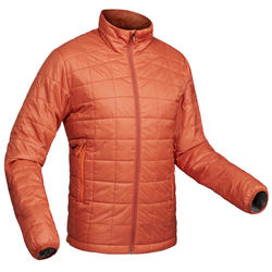 Men's Mountain Trekking Padded Jacket Trek 100 - orange