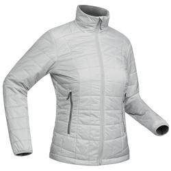 Women's Mountain Trekking Padded Jacket TREK 100 - Grey