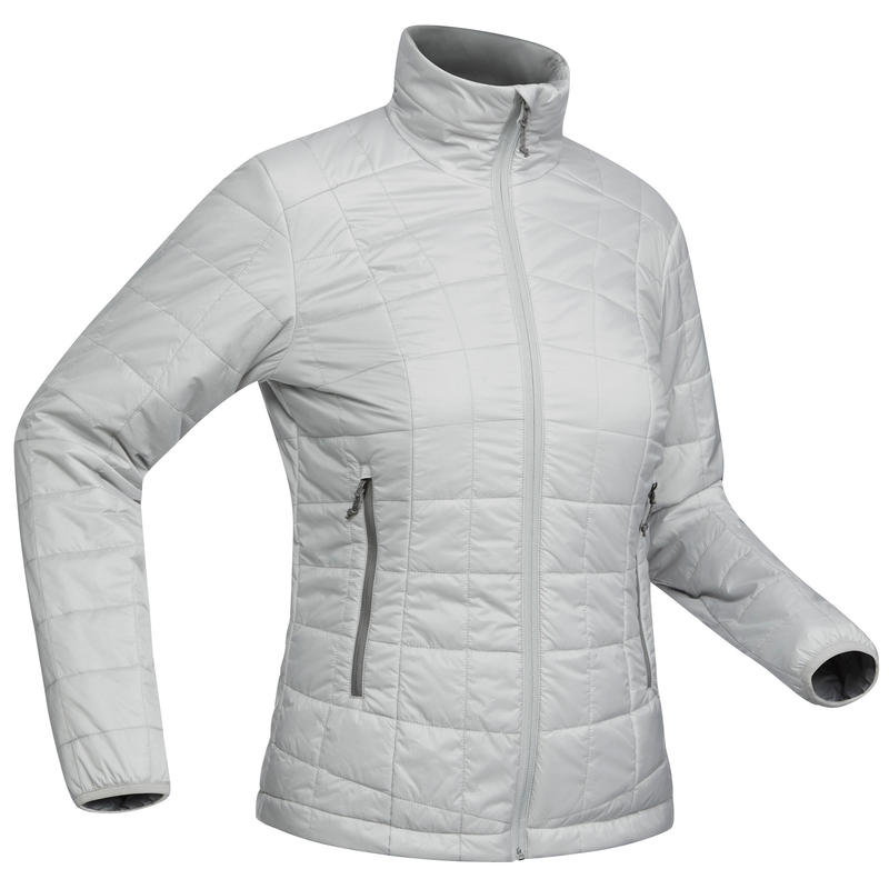 Trek100 Women's Mountain Trekking Down Jacket - Grey