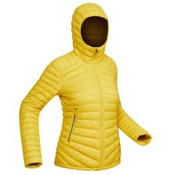 Abrigo Chaqueta Plumón Montaña y Trekking TREK100 Acolchada Mujer Amarillo