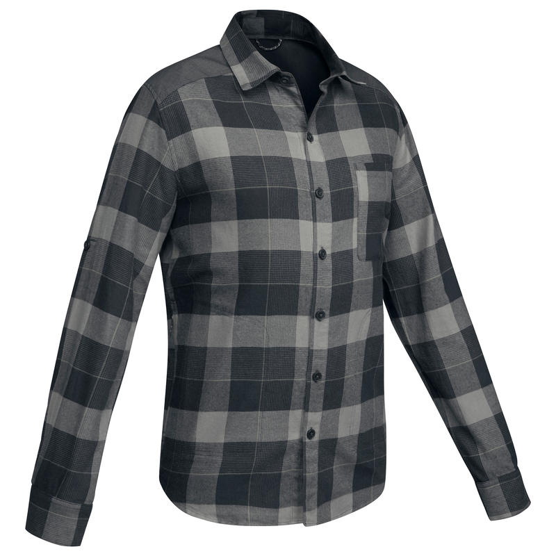 Men's Backpacking Shirt TRAVEL 100 - Black