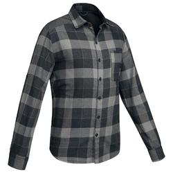 Camisa Montaña y trekking Forclaz TRAVEL100 warm hombre negro