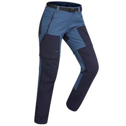Zip-Off-Trekkinghose Trek 500 Damen blau