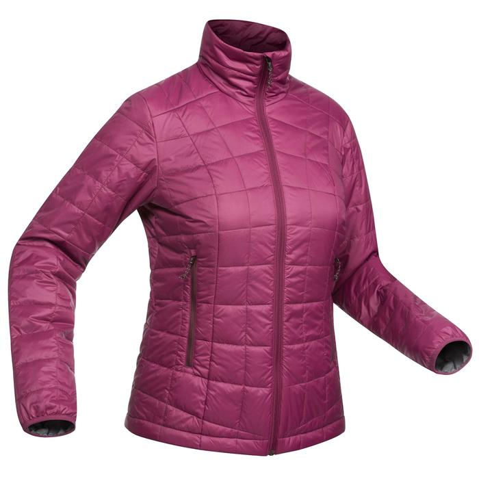 Abrigo Chaqueta Acolchada Montaña y Trekking Forclaz TREK100 Mujer Violeta