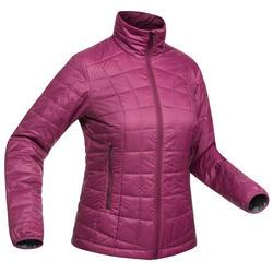 Gewatteerde jas voor bergtrekking Trek 100 dames paars
