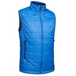 男士登山健行鋪棉背心TREK 100 –藍色