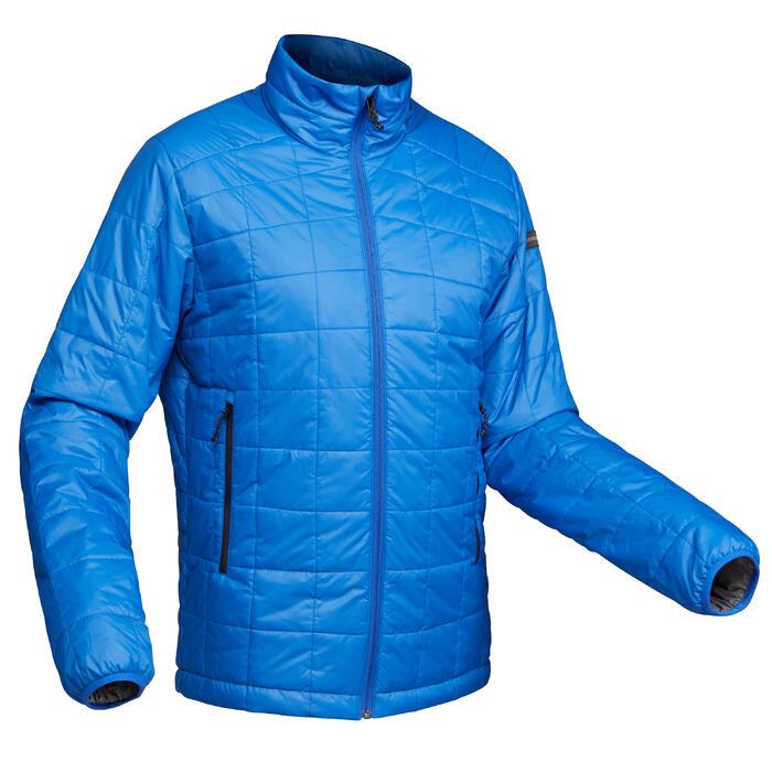 Abrigo Chaqueta Acolchada Montaña y Trekking Forclaz TREK100 Hombre Azul