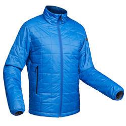 男款登山健行化纖填充外套TREK100-藍色