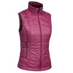 Dames bodywarmer voor bergtrekking Trek 100 paars