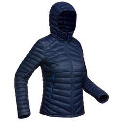 Abrigo Chaqueta Plumón Montaña y Trekking TREK100 Acolchada Mujer Azul Marino