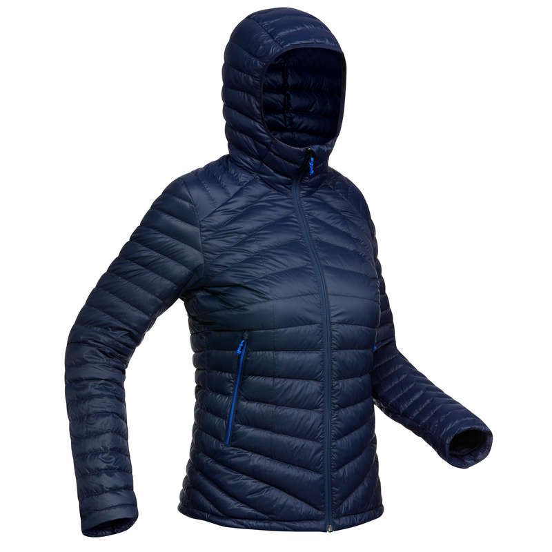 WOMEN DOWN JACKET, VEST MOUNTAIN TREK Trekking - W Down Jacket Trek 100 - navy FORCLAZ - Trekking