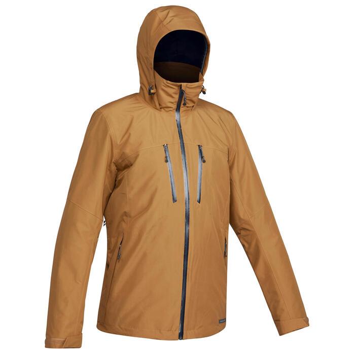 Veste trekking Rainwarm 500 3en1 homme camel