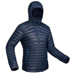 Donsjas voor bergtrekking heren comforttemperatuur -5°C Trek 100 marineblauw