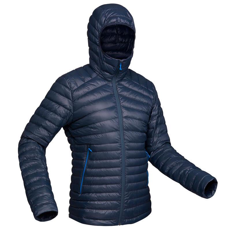 Geacă cu umplutură din puf Trekking la Munte Trek100 -5°C albastru Bărbați