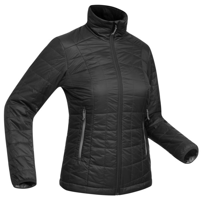 venta reino unido nueva colección apariencia estética Abrigo Chaqueta Acolchada Montaña y Trekking Forclaz TREK100 Mujer Gris