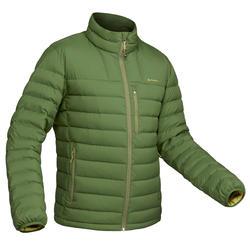 Donsjas voor bergtrekking heren comfort -10°C Trek 500 groen